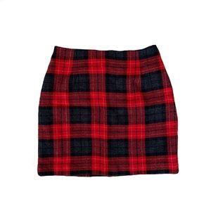 Vintage Michele Plaid Skirt